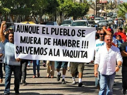 HUELGA DE HAMBRE Y PROTESTA DE PESCADORES  DE SAN FELIPE, BAJA CALIFORNIA