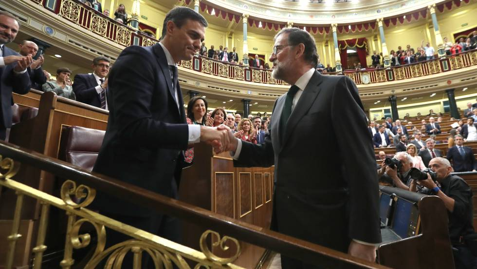QUITAN A MARIANO RAJOY COMO PRESIDENTE DE ESPAÑA,LLEGA PEDRO SÁNCHEZ