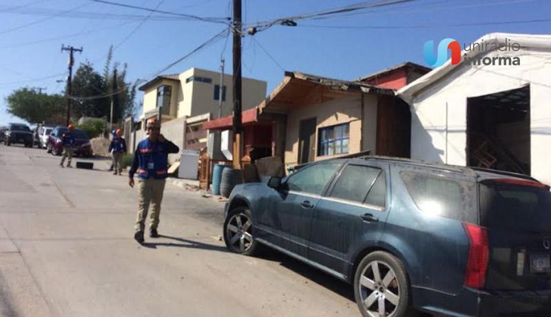 COLAPSARON 4 DE 11 VIVIENDAS DESALOJADAS  EN COLONIA REFORMA