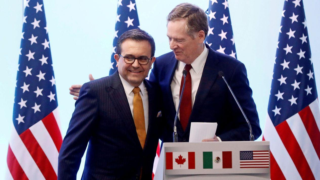 MÉXICO Y ESTADOS UNIDOS  ALCANZAN ACUERDO EN EL TLCAN
