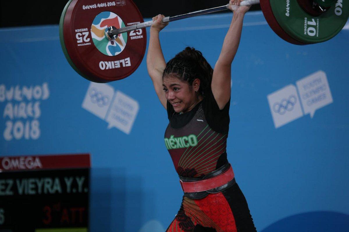 Oro para México, gracias a  halterista Yesica Hernández.En Juegos Olímpicos de Juventud Argentina 2018