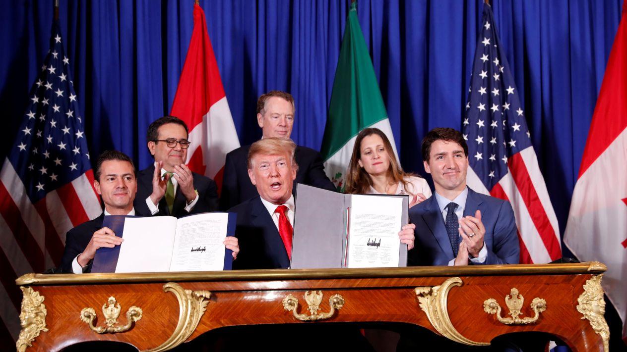 México, EU y Canadá firman el T-MEC.Nuevo tratado de libre comercio