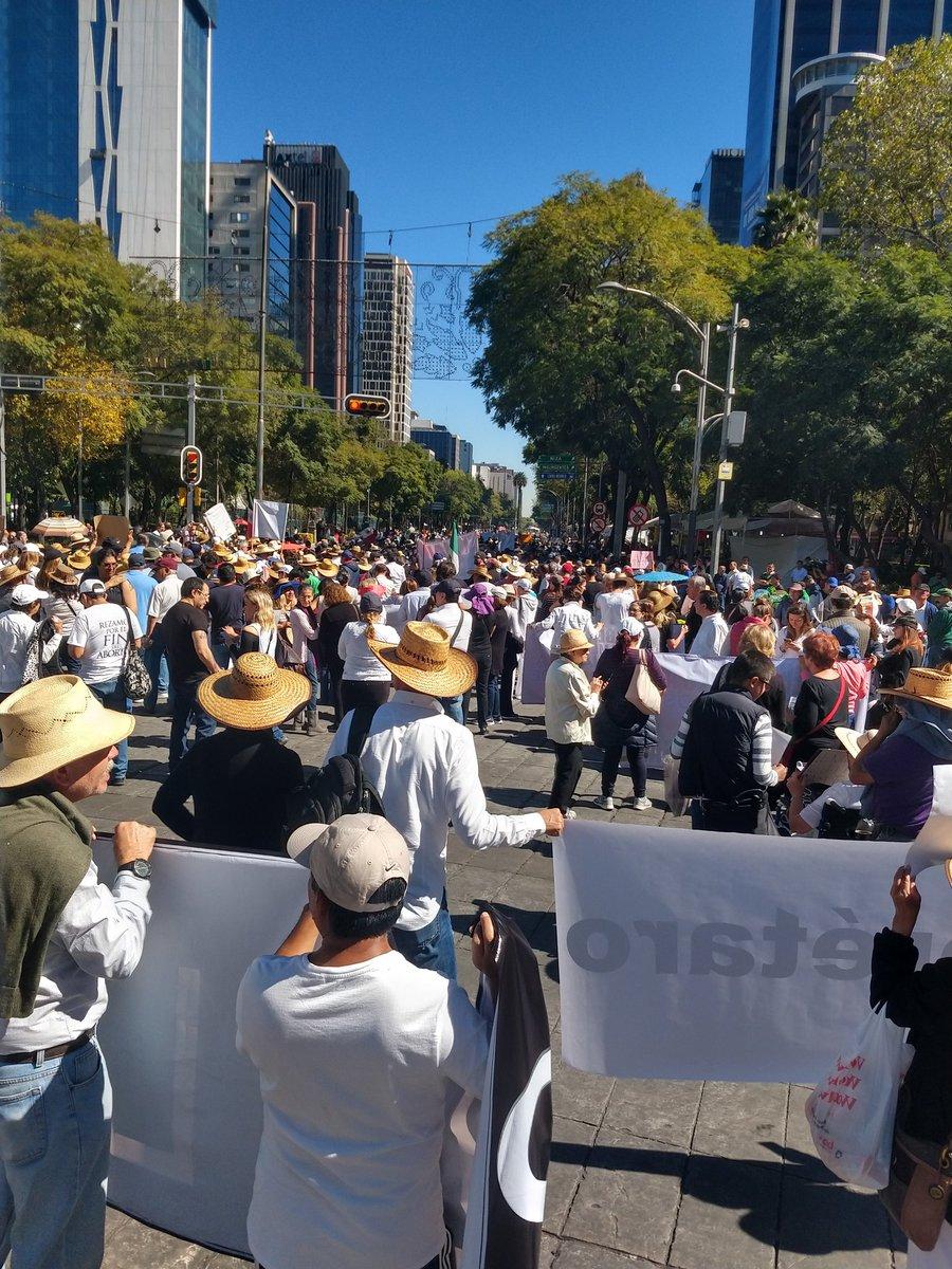 PRIMER PROTESTA CONTRA LÓPEZ OBRADOR SE DIO ESTE DOMINGO 02 DE DICIEMBRE 2018
