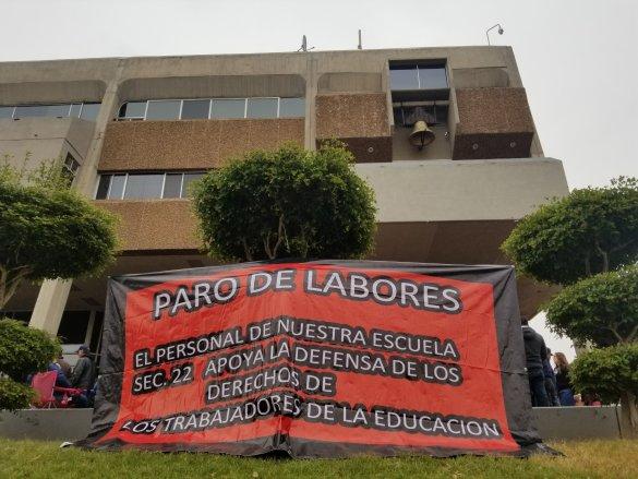 SIGUE PARO LABORAL EN ESCUELAS  DE MAESTROS DE SECCIÓN 37.El viernes bloquearán oficinas operadoras de agua