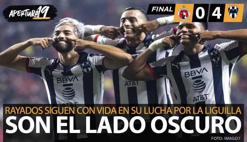 XOLOS, CASI FUERA DE LOS OCTAVOS DE FINAL, AL CAER 4-0 ANTE MONTERREY