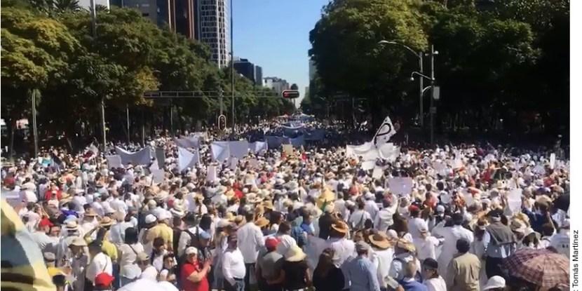 MARCHAN CONTRA AMLO, EN SU  PRIMER AÑO DE GOBIERNO