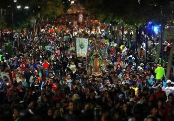LLEGAN 9.8 MILLONES DE  FELIGRESES A BASÍLICA DE GUADALUPE.En Tijuana también festejan a la virgen