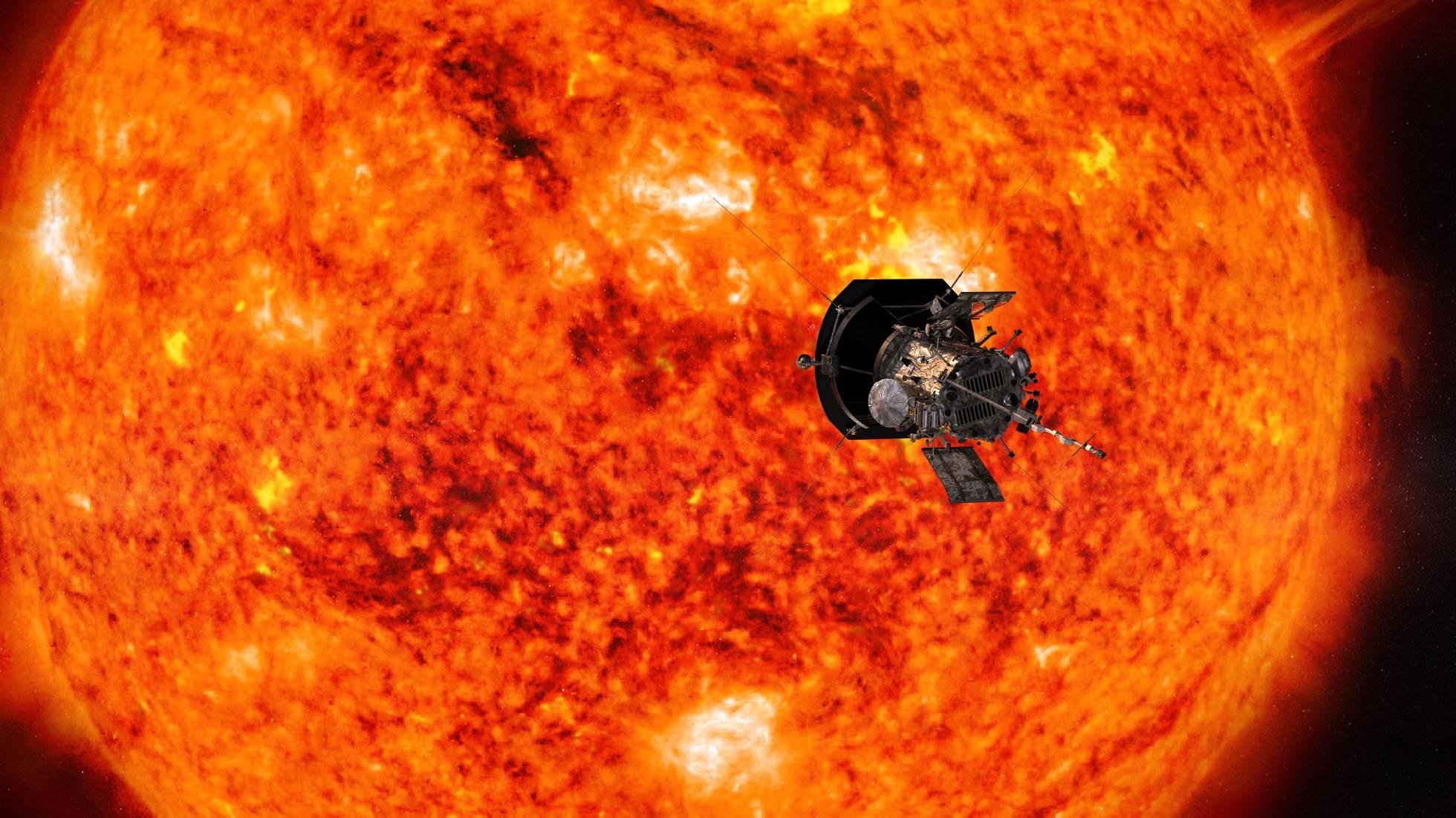 UNA NAVE ENTRA POR PRIMERA VEZ EN EL SOL.La sonda 'Parker' se zambulle en la atmósfera solar,en un ambiente a un millón de grados