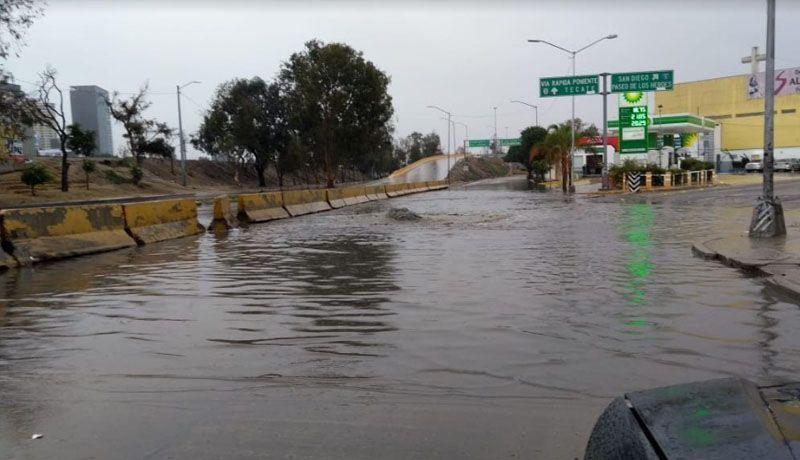 NO HAY ANUNCIO DE SUSPENSIÓN DE CLASES EN TIJUANA.Varios encharcamientos por lluvia
