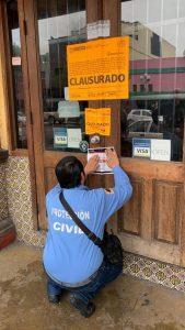 CLAUSURA MUNICIPIO RESTAURANTE DEL HOTEL NELSON, UBICADO EN AVENIDA REVOLUCIÓN