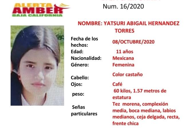 LOS MÁS BUSCADOS: Alerta Amber para localizar a Yatsuri de 11 años