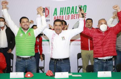 EL PRI RECUPERA 16 MUNICIPIOS EN HIDALGO, ENTRE ELLOS PACHUCA Y HUEJUTLA. Peleará por Tulancinco