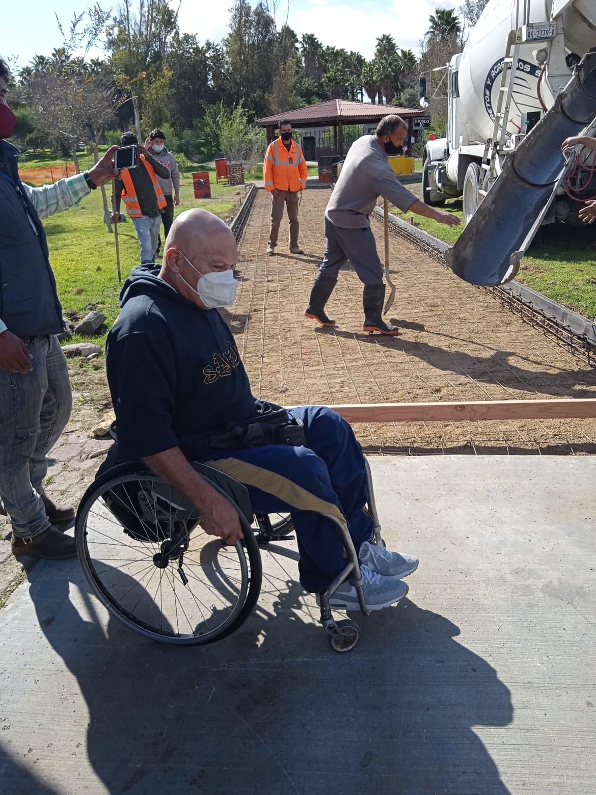 ARRANCA OBRA PARA  ANDADORES DE PERSONAS CON DISCAPACIDAD EN PARQUE MORELOS