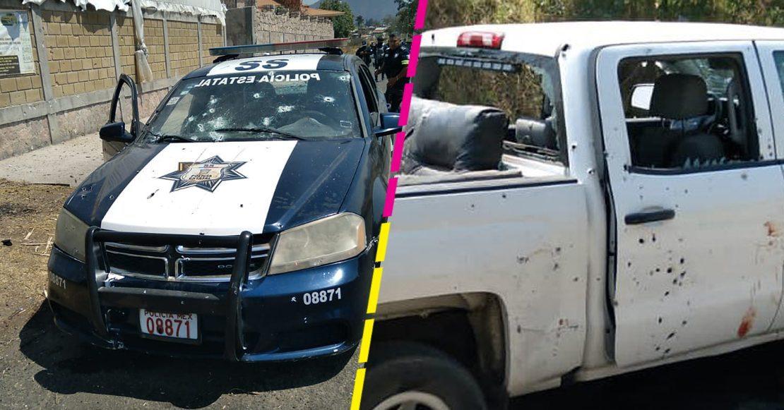 EMBOSCAN A POLICÍAS EN ESTADO DE MÉXICO, VAN 13 MUERTOS