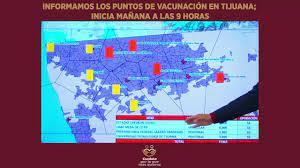 SITIOS PARA VACUNARSE CONTRA COVID, MAYORES DE 60 AÑOS.Sábado 27 marzo 2021,a las 9.a.m. en Tijuana