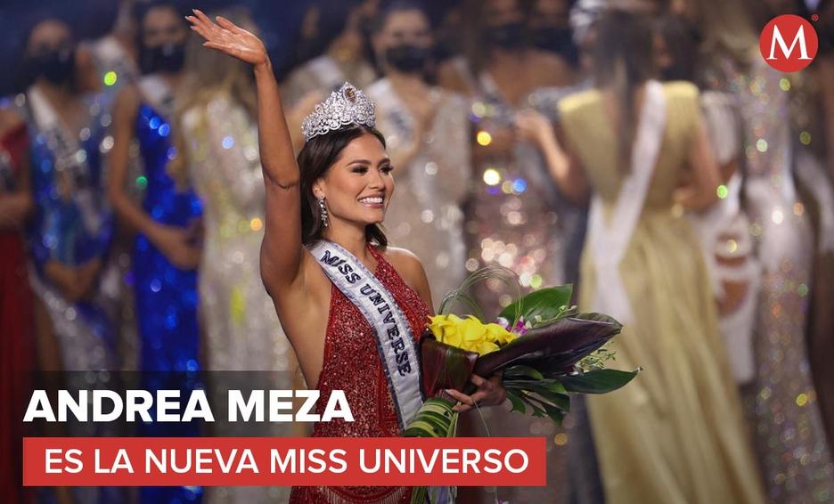 LA MEXICANA ANDREA MEZA ES CORONADA MISS UNIVERSO 2021