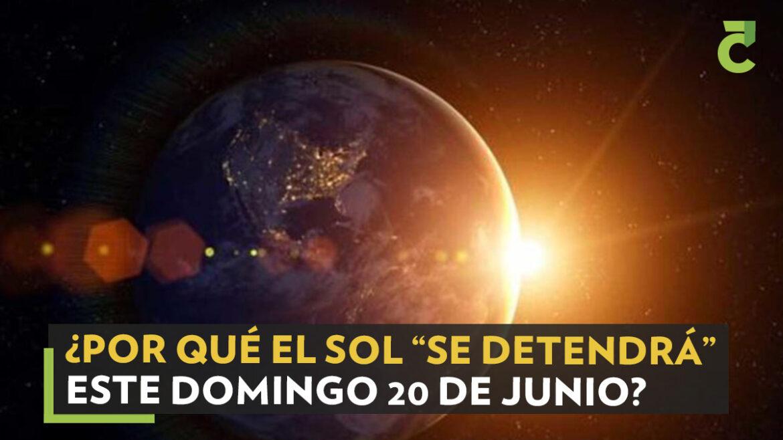 """EL SOL """"SE DETENDRÁ"""" EL DOMINGO A LAS 21.32 HORAS.Día más largo y noche más corta por solsticio de verano"""