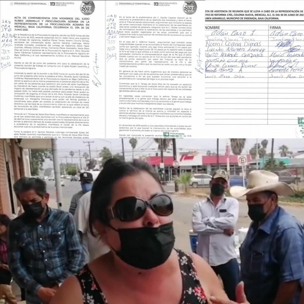 CIERRAN OFICINAS DE PROCURADURÍA AGRARIA EN ENSENADA.Exigen renuncia de funcionario por reparto de hectáreas.