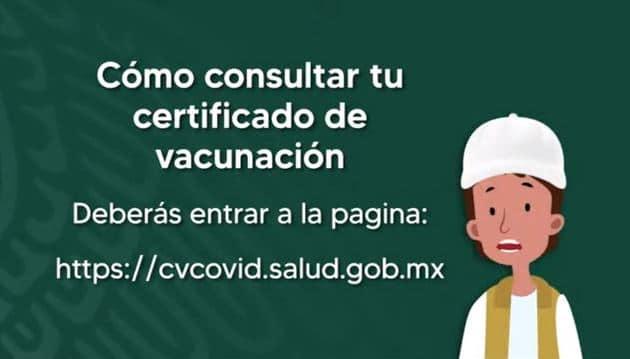 YA SE PUEDE  OBTENER CERTIFICADO DE VACUNACIÓN EN MÉXICO